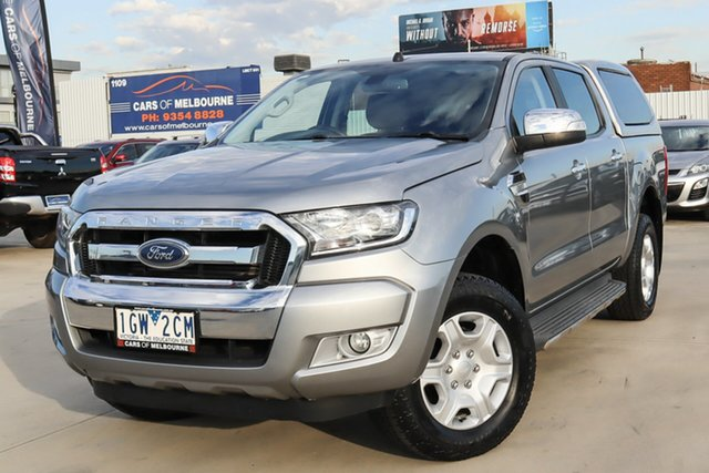 Used Ford Ranger PX MkII XLT Double Cab 4x2 Hi-Rider Coburg North, 2015 Ford Ranger PX MkII XLT Double Cab 4x2 Hi-Rider Grey 6 Speed Sports Automatic Utility