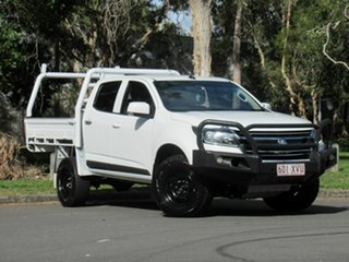 2017 Holden Colorado RG MY18 LS Crew Cab White 6 Speed Manual Cab Chassis.