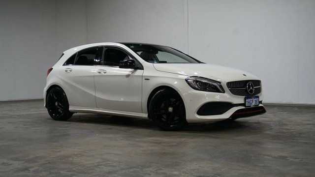 Used Mercedes-Benz A-Class W176 807MY A250 D-CT 4MATIC Sport Welshpool, 2017 Mercedes-Benz A-Class W176 807MY A250 D-CT 4MATIC Sport Cirrus White 7 Speed