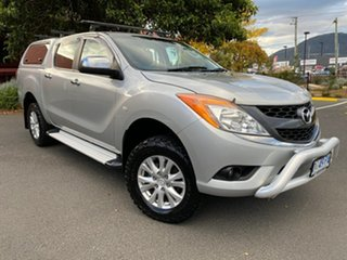 2013 Mazda BT-50 UP0YF1 XT Silver 6 Speed Manual Cab Chassis.