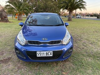 2013 Kia Rio UB MY13 SI Blue 6 Speed Manual Hatchback.