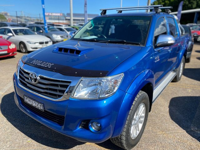 Used Toyota Hilux KUN26R MY14 SR5 Double Cab Wickham, 2015 Toyota Hilux KUN26R MY14 SR5 Double Cab Blue 5 Speed Manual Utility