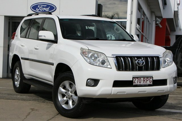 Used Toyota Landcruiser Prado GRJ150R GXL Beaudesert, 2011 Toyota Landcruiser Prado GRJ150R GXL White 5 Speed Sports Automatic Wagon