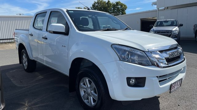 Used Isuzu D-MAX MY15 LS-M Crew Cab Moorooka, 2014 Isuzu D-MAX MY15 LS-M Crew Cab Splash White 5 Speed Manual Utility