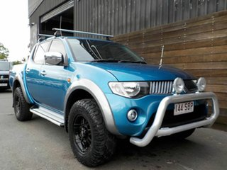 2009 Mitsubishi Triton ML MY09 GLX-R Double Cab Blue 4 Speed Automatic Utility.