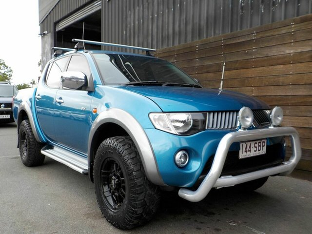 Used Mitsubishi Triton ML MY09 GLX-R Double Cab Labrador, 2009 Mitsubishi Triton ML MY09 GLX-R Double Cab Blue 4 Speed Automatic Utility