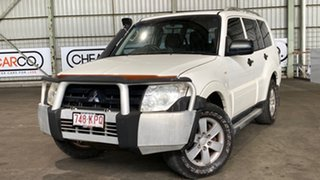 2007 Mitsubishi Pajero NS GLX White 5 Speed Sports Automatic Wagon.
