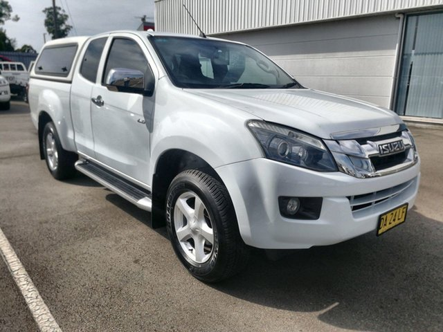 Pre-Owned Isuzu D-MAX MY14 LS-U Space Cab Cardiff, 2014 Isuzu D-MAX MY14 LS-U Space Cab White 5 Speed Sports Automatic Utility