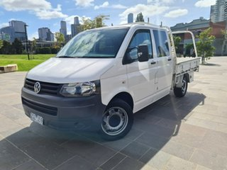 2010 Volkswagen Transporter T5 MY09 White 6 Speed Sports Automatic Cab Chassis.