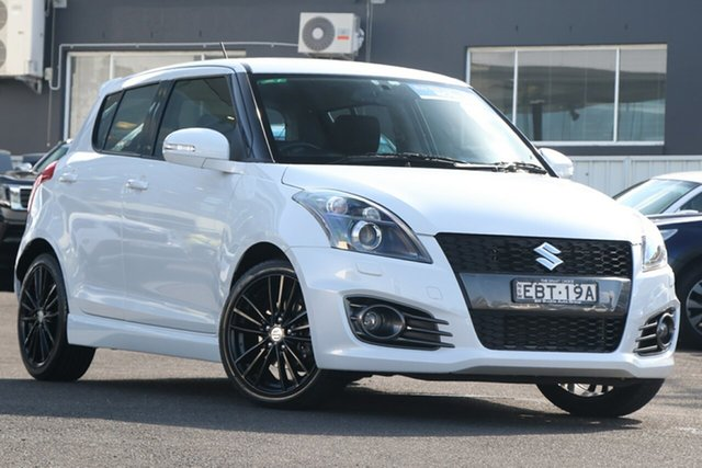 Pre-Owned Suzuki Swift FZ MY15 Sport Brookvale, 2015 Suzuki Swift FZ MY15 Sport White 7 Speed Constant Variable Hatchback