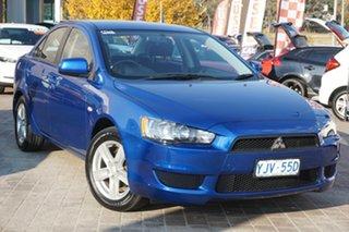 2014 Mitsubishi Lancer CJ MY14.5 ES Sport Blue 5 Speed Manual Sedan.