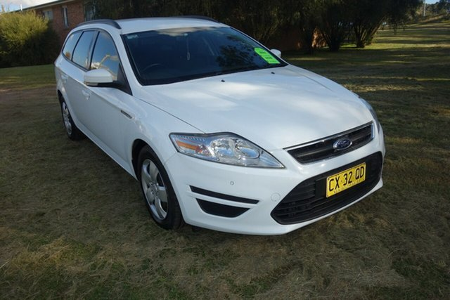 Used Ford Mondeo MC LX PwrShift TDCi East Maitland, 2013 Ford Mondeo MC LX PwrShift TDCi White 6 Speed Sports Automatic Dual Clutch Wagon