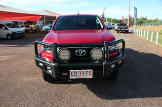 2018 Toyota Hilux GUN126R SR5 Double Cab Olympia Red 6 Speed Manual Utility.