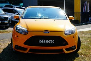 2012 Ford Focus LW MkII ST Yellow 6 Speed Manual Hatchback.