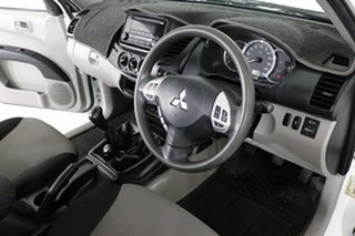 2015 Mitsubishi Triton MQ MY16 GLX (4x4) White 6 Speed Manual Dual Cab Chassis