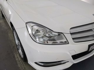 2012 Mercedes-Benz C-Class W204 MY13 C200 BlueEFFICIENCY 7G-Tronic + Elegance White 7 Speed.