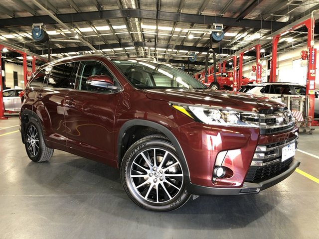 Pre-Owned Toyota Kluger GSU50R Grande 2WD Oakleigh, 2019 Toyota Kluger GSU50R Grande 2WD Deep Red 8 Speed Sports Automatic Wagon