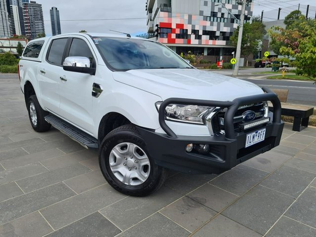 Used Ford Ranger PX MkII 2018.00MY XLT Double Cab 4x2 Hi-Rider South Melbourne, 2017 Ford Ranger PX MkII 2018.00MY XLT Double Cab 4x2 Hi-Rider White 6 Speed Sports Automatic