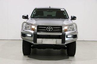 2016 Toyota Hilux GUN126R SR (4x4) Silver 6 Speed Automatic Dual Cab Utility.