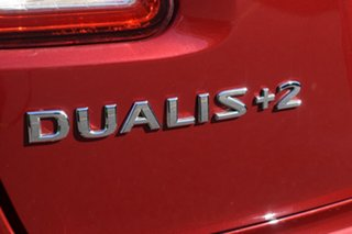 2012 Nissan Dualis J107 Series 3 MY12 +2 Hatch X-tronic 2WD Ti Red 6 Speed Constant Variable
