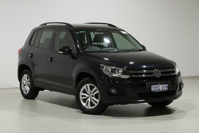 Used Volkswagen Tiguan 5NC MY12 132 TSI Pacific Bentley, 2012 Volkswagen Tiguan 5NC MY12 132 TSI Pacific Black 6 Speed Automatic Wagon