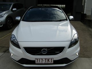 2013 Volvo V40 M Series MY13 T5 Adap Geartronic R-Design White 6 Speed Sports Automatic Hatchback