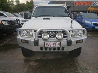 2004 Nissan Patrol GU II ST White 5 Speed Manual Cab Chassis