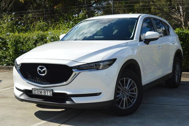 Used Mazda CX-5 KF4WLA Maxx SKYACTIV-Drive i-ACTIV AWD Sport Maitland, 2018 Mazda CX-5 KF4WLA Maxx SKYACTIV-Drive i-ACTIV AWD Sport White 6 Speed Sports Automatic Wagon