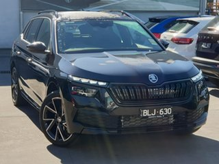 2020 Skoda Kamiq NW MY21 110TSI DSG FWD Monte Carlo Black 7 Speed Sports Automatic Dual Clutch Wagon.