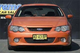 2005 Ford Falcon BA Mk II XR6 Orange 4 Speed Sports Automatic Sedan.
