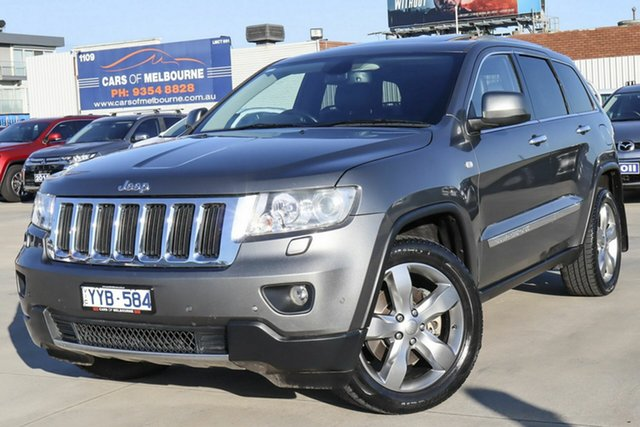 Used Jeep Grand Cherokee WK MY2012 Limited Coburg North, 2012 Jeep Grand Cherokee WK MY2012 Limited Grey 5 Speed Sports Automatic Wagon