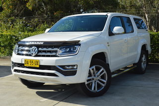 2018 Volkswagen Amarok 2H MY18 TDI550 4MOTION Perm Highline White 8 Speed Automatic Utility.