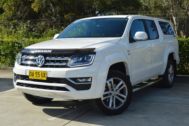 Used Volkswagen Amarok 2H MY18 TDI550 4MOTION Perm Highline Maitland, 2018 Volkswagen Amarok 2H MY18 TDI550 4MOTION Perm Highline White 8 Speed Automatic Utility