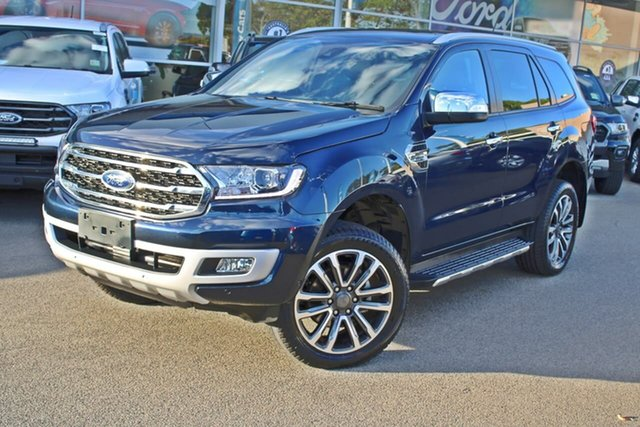 Used Ford Everest UA II 2020.25MY Titanium Midland, 2020 Ford Everest UA II 2020.25MY Titanium Blue 10 Speed Sports Automatic SUV