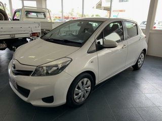 2011 Toyota Yaris NCP131R YRS White 5 Speed Manual Hatchback.
