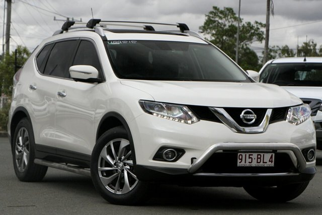 Used Nissan X-Trail T32 Ti X-tronic 4WD N-TREK Rocklea, 2015 Nissan X-Trail T32 Ti X-tronic 4WD N-TREK Snow White Pearl 7 Speed Constant Variable Wagon