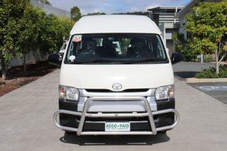 2017 Toyota HiAce TRH223R Commuter High Roof Super LWB White 6 speed Automatic Bus.