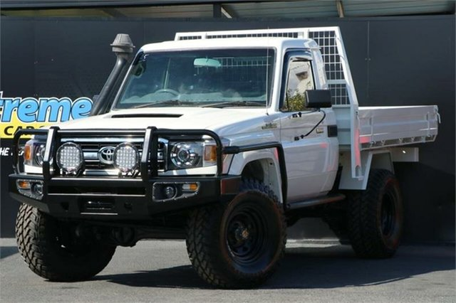 Used Toyota Landcruiser VDJ79R MY10 Workmate Campbelltown, 2010 Toyota Landcruiser VDJ79R MY10 Workmate White 5 Speed Manual Cab Chassis