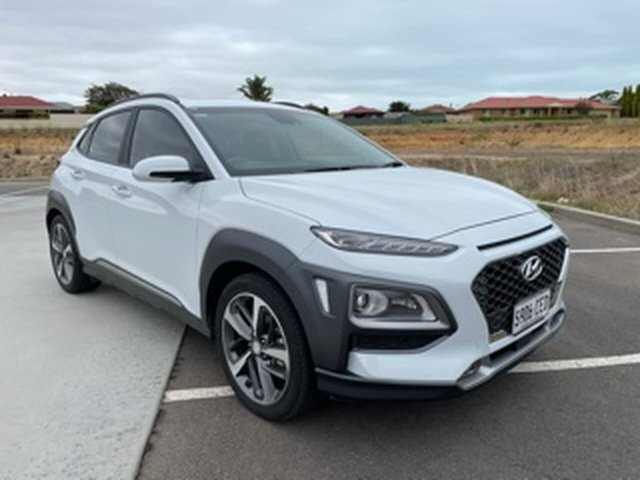 Used Hyundai Kona OS.3 MY20 Highlander 2WD Victor Harbor, 2020 Hyundai Kona OS.3 MY20 Highlander 2WD White 6 Speed Sports Automatic Wagon