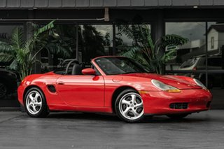 1998 Porsche Boxster 986 Red 5 Speed Sports Automatic Convertible.
