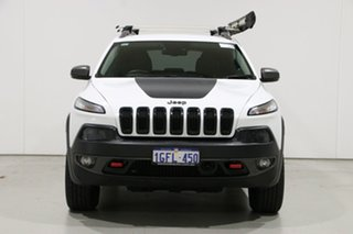 2014 Jeep Cherokee KL Trailhawk (4x4) White 9 Speed Automatic Wagon.