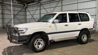 2005 Toyota Landcruiser UZJ100R GXL White 5 Speed Automatic Wagon.