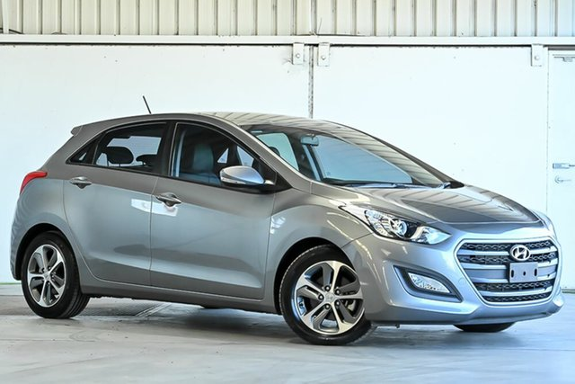 Used Hyundai i30 GD4 Series II MY17 Active X Laverton North, 2016 Hyundai i30 GD4 Series II MY17 Active X Grey 6 Speed Sports Automatic Hatchback