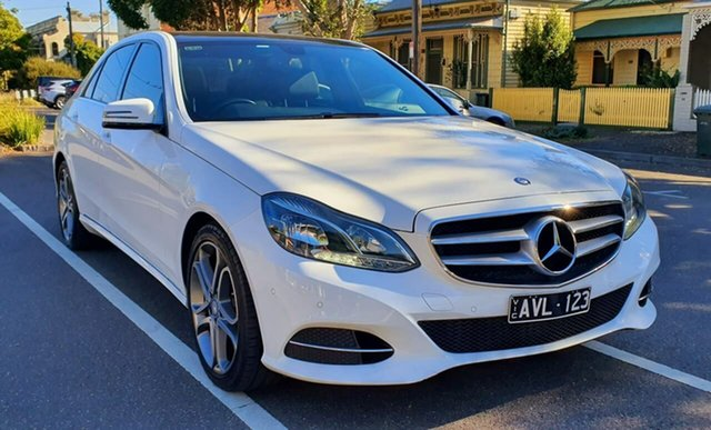 Used Mercedes-Benz E-Class W212 806MY E200 7G-Tronic + South Melbourne, 2015 Mercedes-Benz E-Class W212 806MY E200 7G-Tronic + White 7 Speed Sports Automatic Sedan