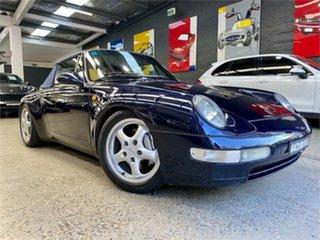 1995 Porsche 911 993 Carrera 4 Midnight Blue Manual Cabriolet.