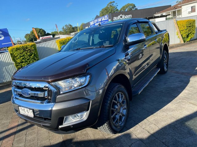 Used Ford Ranger XLT Taree, 2017 Ford Ranger XLT Grey Sports Automatic Double Cab Pick Up