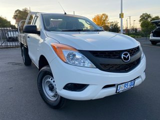 2015 Mazda BT-50 UP0YD1 XT 4x2 White 6 Speed Manual Cab Chassis