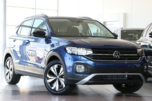 New Volkswagen T-Cross C1 MY21 85TSI DSG FWD CityLife Brookvale, 2021 Volkswagen T-Cross C1 MY21 85TSI DSG FWD CityLife Reef Blue Metallic 7 Speed