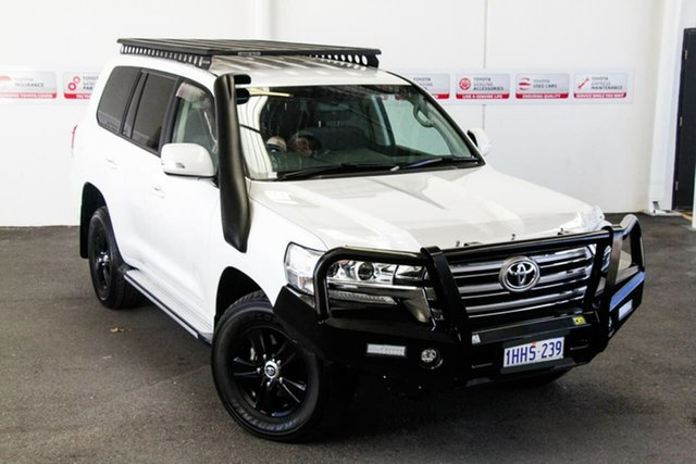 Pre-Owned Toyota Landcruiser VDJ200R MY16 GXL (4x4) Myaree, 2018 Toyota Landcruiser VDJ200R MY16 GXL (4x4) Crystal Pearl 6 Speed Automatic Wagon
