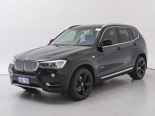 2016 BMW X3 F25 MY17 xDrive 20I Black 8 Speed Automatic Wagon.